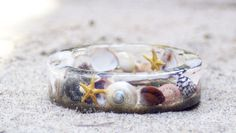 These rings are made with items from nature, like shells, leaves, flowers, etc. So cute!