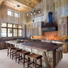 This pin of kitchen design & decor found on Hometalk and around the web. Brought to you by Kitchen Lovers! This pin of kitchen design & decor found on Hometalk and around the web. Brought to you by Kitchen Lovers! Rustic Kitchen Island, Rustic Kitchen Design, Home Decor Kitchen, Kitchen Ideas, Kitchen Inspiration, Diy Kitchen, Kitchen Cabinets, Kitchen Islands, Kitchen Layout