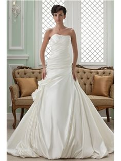 Strapless Chapel Graceful Bridal Gown(680) Wollongong