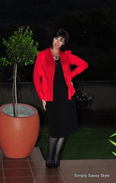 Black pencil skirt (Truworths) Red shirt (Edgars)
