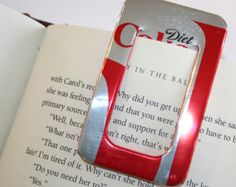 Diet Dr. Pepper BOOKMARK & PAPER CLIP Set by PopCanCreations
