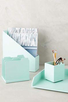 Loving this pastel desk organizer set.