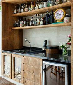 Luxury Home Bar Interior Bar Interior, Interior Decorating, Interior Design, Home Bar Signs, Home Bar Decor, Bar Home, Rustic Kitchen, New Kitchen, Kitchen Grey