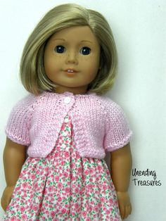 18 inch doll clothes AG doll clothes pink doll sweater by Unendingtreasures on Etsy