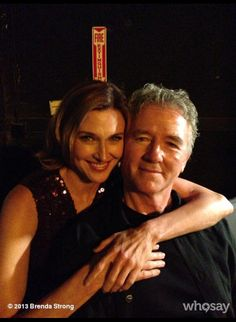 Patrick and Brenda backstage at the promo shoot for #DallasS3 so adorable.