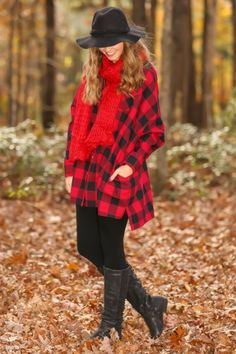 Oversized, plaid tunic! Red & black plaid! Obsessed! This will become your favorite thing you own! Must have!