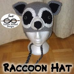 Raccoon Hat - $3.99 (CAD) by Jewels' Forever Hooked Designs