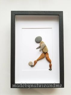 Rock art, Soccer player gift, Personalized soccer gift, Pebble art soccer gift, Unique Boy room decor, Personalized Grandson Christmas gift by madebynatureandme on Etsy