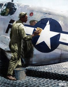 """Tuskegee Airmen P-51 /""""Gruesome Twosome/"""" Limited Edition Prints by Willie Jones"""