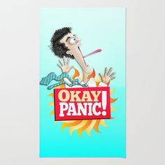 Okay Panic! Area & Throw Rug by Peter Gross - $28.00