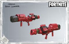 Fortnite - Hydraulic Rocket Launcher - Concept Art