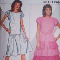 The one on the left, that was my favorite dress in 6th grade.