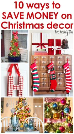 How to save money on Christmas decor! Great ideas!