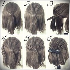58 Best Short Haircuts For Fall Easy Hairstyles Prom Hair easy Fall Haircuts Hairstyles Short Short Hair Styles Easy, Short Hair Cuts, Medium Hair Styles, Short Hair Updo Easy, Updo Curly, Buns For Short Hair, Short Hair Wedding Styles, How To Style Short Hair, Easy Hair Up