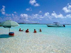 Dream vacation. Staniel Cay Yacht Club. Exumas.