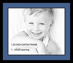 Art to Frames DoubleMultimat73683689FRBW26079 Collage Photo Frame Double Mat with 1  20x24 Openings and Satin Black Frame *** You can get more details by clicking on the image. (This is an affiliate link and I receive a commission for the sales)