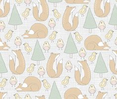 Baby Kids Forest Animals fabric by julia_dreams on Spoonflower - custom fabric