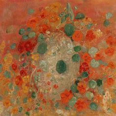This painting from 1905 by Odilon Redon has incredible significance to me: first, I grew up on a part of the California coast where nasturtiums embroider the craggy headlands and line the little creeks. Nothing reminds me more of my true home than this ecology: nasturtiums, eucalyptus, mustardweed, wild licorice, the briny, low-tide air, barking seals. And second, this painting hangs @yaleartgallery, my home away from home for the past six years. I never felt right here, at Yale or in New…