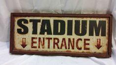 Stadium Entrance Vintage Sports Decor Tin Sign | eBay