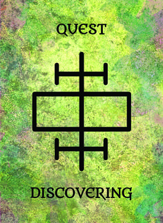 The Quest (Discovering) image for the Transcendence Oracle™ card deck by Aethyrius.