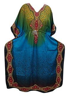 Women's Kaftan Dresses Blue Caftan Cover up Dashiki Beach... https://www.amazon.com/dp/B01N0UM4FE/ref=cm_sw_r_pi_dp_x_keWzybCMV5GQZ