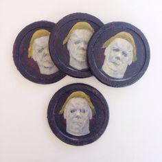 Custom Made Cork Coasters / Halloween / Michael Meyers / Home Decor / Gift / Housewarming / Set of 4 by PoppedArtDesigns
