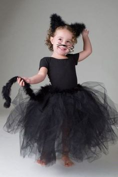 Comfy Toddler Child Playful BLACK KITTY Cat Costume Dance Halloween Play