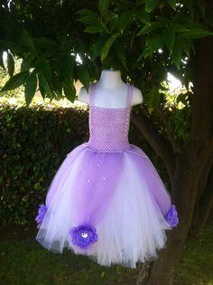 Sofia the First Princess tutu dress Halloween Costume por 2Twos