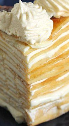 Lemon Mascarpone Crepe Cake More