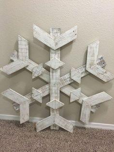 Large Pallet Snowflake by DownAtPapasShop on Etsy