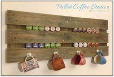 Une palette de bois pour organiser vos dosettes de café! - Décoration - Des idées de décorations pour votre maison et le bureau - Trucs et Bricolages - Fallait y penser !