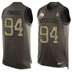 Nike Steelers #94 #Lawrence #Timmons Green Men's Stitched #NFL Limited Salute To Service Tank Top# Jersey