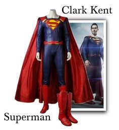 """""""Clark Kent """"Superman"""" - Supergirl"""" by gone-girl ❤ liked on Polyvore featuring men's fashion, menswear, superman, supergirl and clarkkent"""