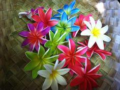 Nu FoAM tiare flower hairpick  PICK ANY TWO by hulamelani on Etsy