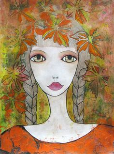 Buy Autumn Girl, Drawing by Riana van Staden on Artfinder. Discover thousands of other original paintings, prints, sculptures and photography from independent artists. Paintings For Sale, Original Paintings, Original Art, Watercolor Drawing, Leaf Drawing, Girl Falling, Pencil Drawings, Buy Art, Autumn Girl