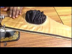 This video shows the cutting and stitching of this cap sleeve new method in a simple and easy way. Sari Blouse Designs, Kurti Neck Designs, Bridal Blouse Designs, Sleeve Designs, Kurti Sleeves Design, Sleeves Designs For Dresses, Sewing Sleeves, Kids Frocks Design, Petal Sleeve