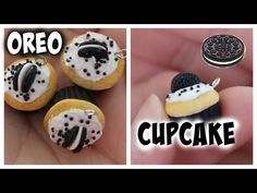 Oreo Cookie Cupcake polymer clay charm tutorial
