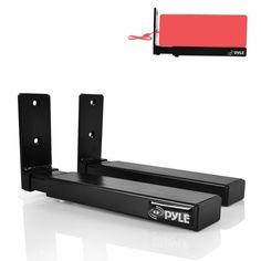 Pyle PSTNDW17 Universal Wall Mount Sound Bar Speaker Brackets with Center Channel Speaker Hanging Mounts