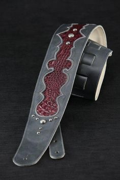 Leather Guitar Strap Custom Leather Strap by EthosCustomBrands