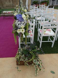 Decoración florar de una boda civiel en Restaurante Carlos