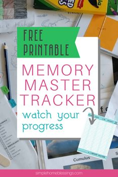 Memory Master Tracker - Simple. Home. Blessings