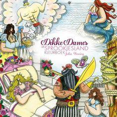Enige tijd geleden heb ik van BBNC weer een prachtig kleurboek mogen ontvangen, het kleurboek Dikke Dames in Sprookjesland van Julia Woning.Met, je raad he