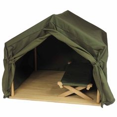 The Queen's Treasures Gombe Rainforest Tent and Cot Set for 18-inch Doll Girl