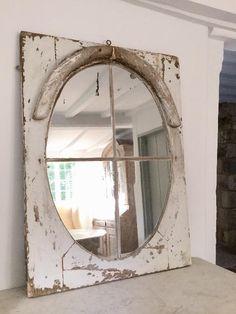French Architectural 19thC Window Mirror