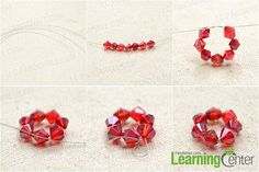This is an instructional post showing how to make a beaded flower charm bracelet by using crystal and pearl beads. No extra skills or tools required! Teen Jewelry, Star Jewelry, Cute Jewelry, Pearl Beads, Crystal Beads, Handmade Bracelets, Beaded Bracelets, Charm Bracelets For Girls, Diy Crystals