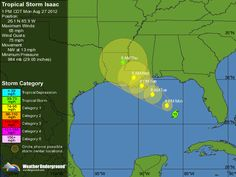Tropical Storm Isaac : Tracking Map | Weather Underground     Aug 27. 2012