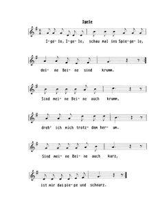 Lied: Igele, Igele. Für Kinder von wir-in-berlin