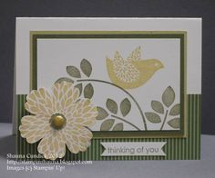 Blossom and Bird Branch by stampinshauna - Cards and Paper Crafts at Splitcoaststampers Betsy's Blossoms