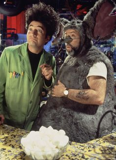 Cool guy in a rat suit. Wild hair. How much more fun can you have?