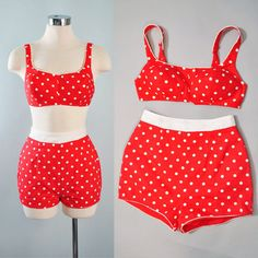 Hey, I found this really awesome Etsy listing at https://www.etsy.com/listing/467118618/vintage-50s-2pc-swimsuit-1950s-red